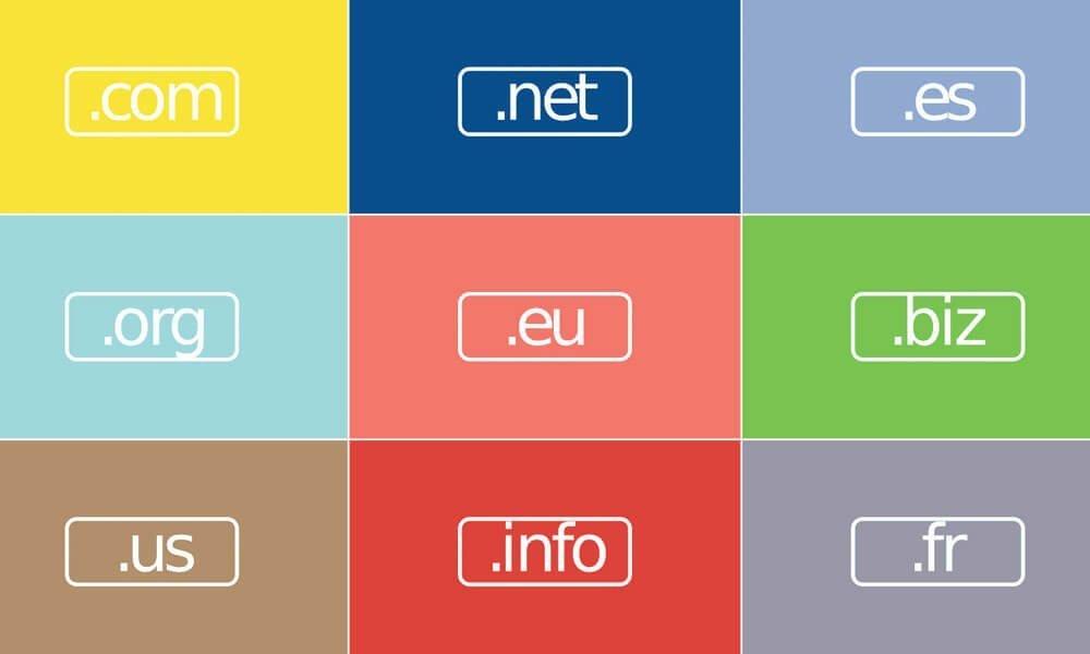 Extensions de nom de domaine